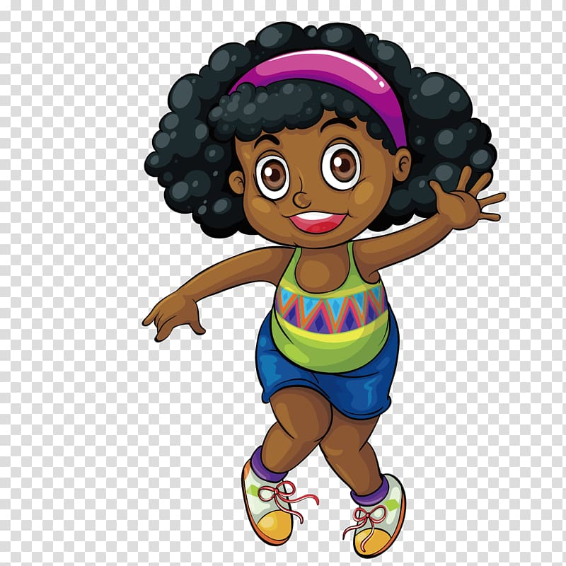 Clipart of beautiful black women walking banner freeuse library Black Drawing Girl , Cute black girl transparent background PNG ... banner freeuse library