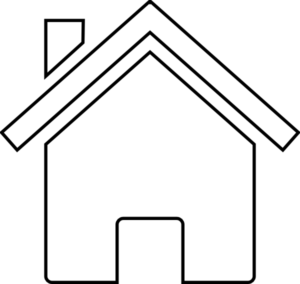 Clipart black house graphic black and white House Outline Clipart Black And White   Free download best House ... graphic black and white