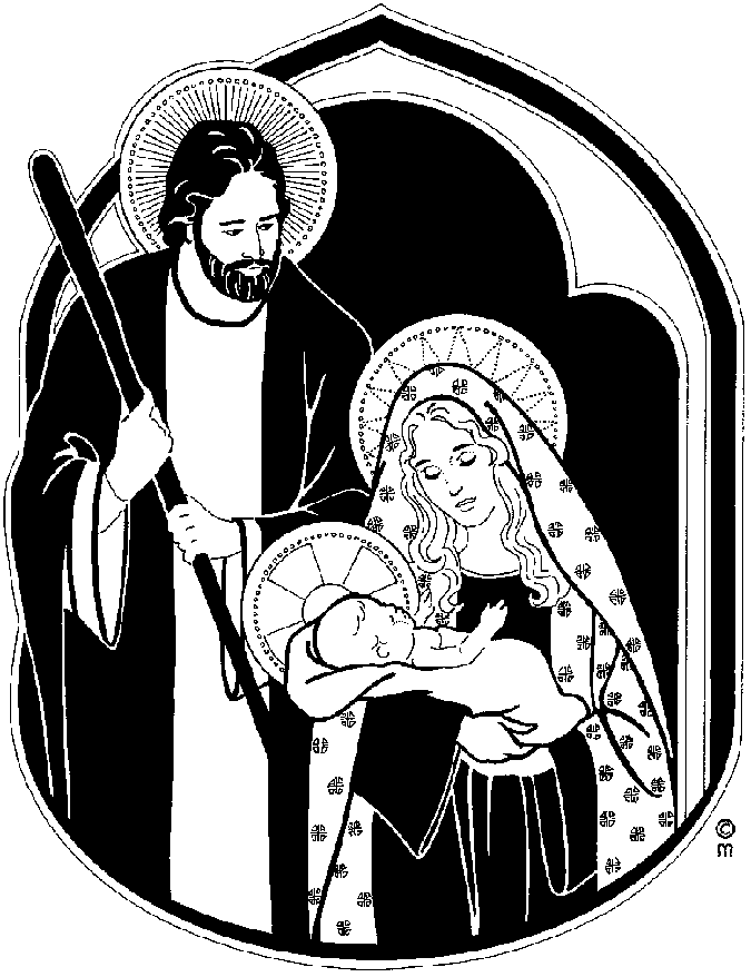 Clipart black mary joseph and jesus photo jpg black and white Clipart black mary joseph and jesus photo - ClipartFest jpg black and white