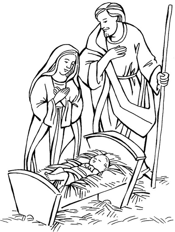 Clipart black mary joseph and jesus photo image download Mary and Joseph and baby Jesus Bible coloring pages ... image download