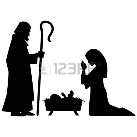 Clipart black mary joseph and jesus photo svg freeuse library 204 Nativity Shepherd Cliparts, Stock Vector And Royalty Free ... svg freeuse library