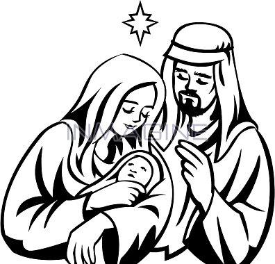 Clipart black mary joseph and jesus photo