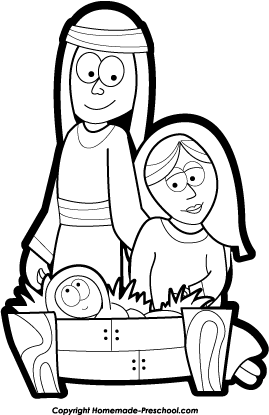 Clipart black mary joseph and jesus photo freeuse download Joseph and jesus clipart - ClipartFest freeuse download