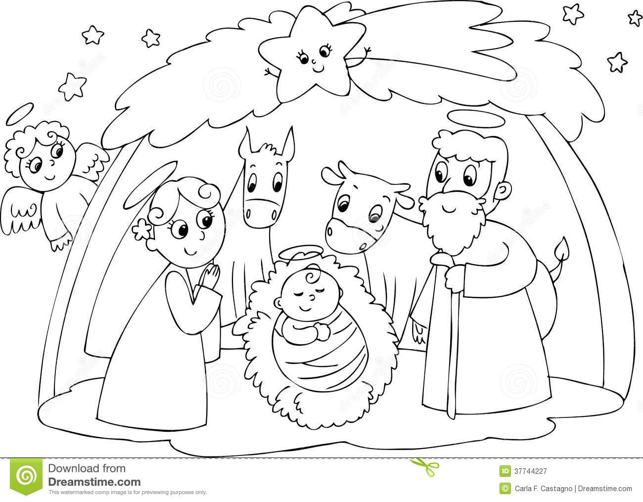 Clipart black mary joseph and jesus photo jpg royalty free stock Nativity: Mary Joseph And Jesus Royalty Free Stock Photography ... jpg royalty free stock