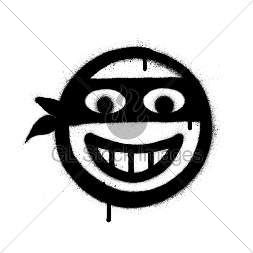 Clipart black of theif and white coverd face jpg library library Graffiti Thief Icon Sprayed In Black Over White · GL Stock Images jpg library library