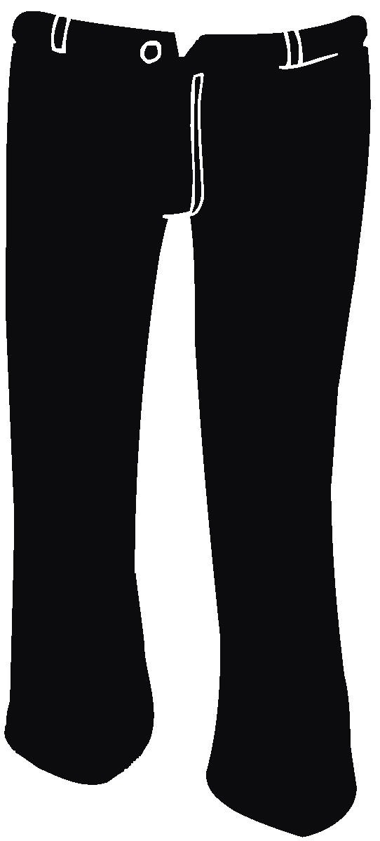 Clipart black pants graphic black and white Black Pants Clipart | Clipart Panda - Free Clipart Images graphic black and white