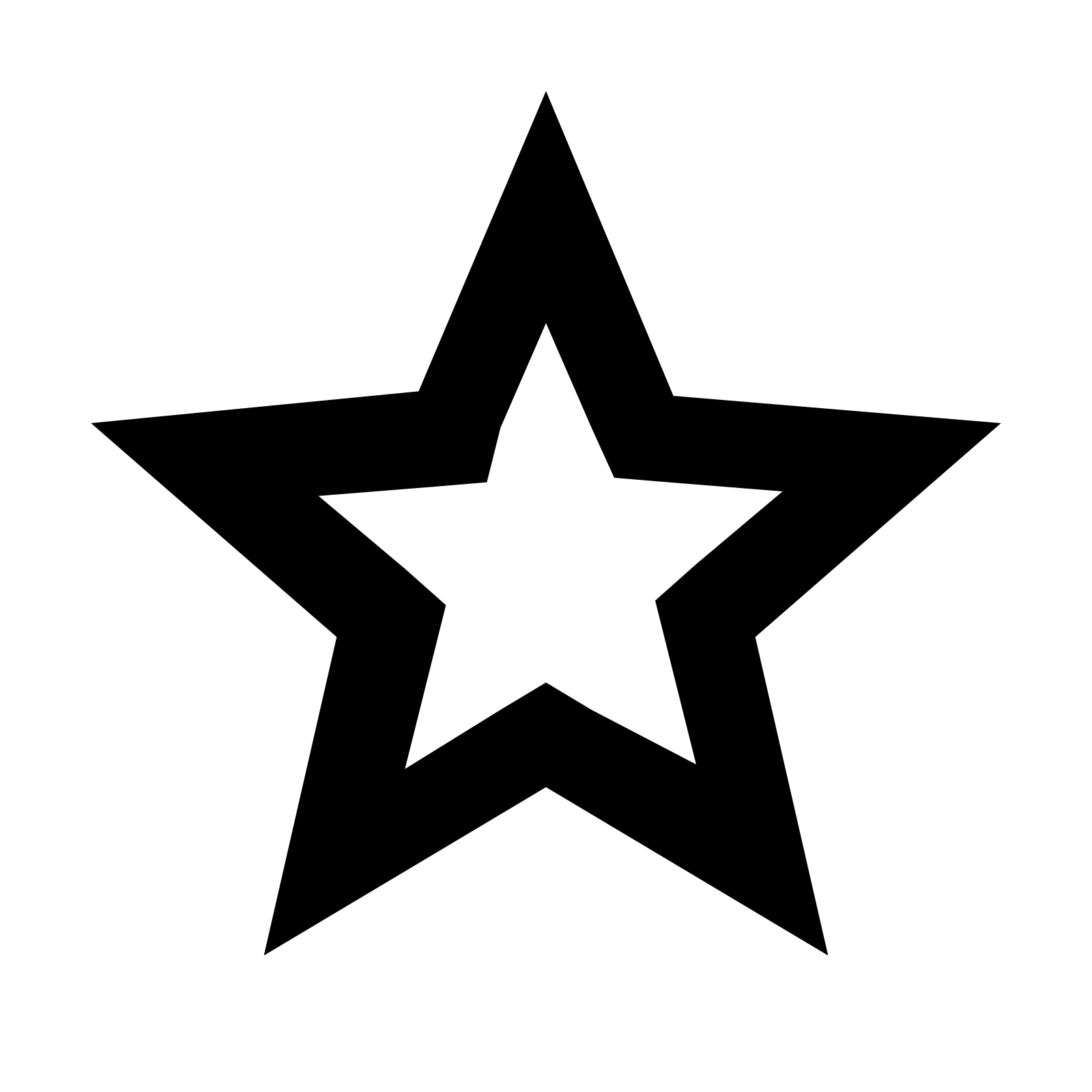 Clipart black star black and white Black Star PNG Image - PurePNG | Free transparent CC0 PNG Image Library black and white