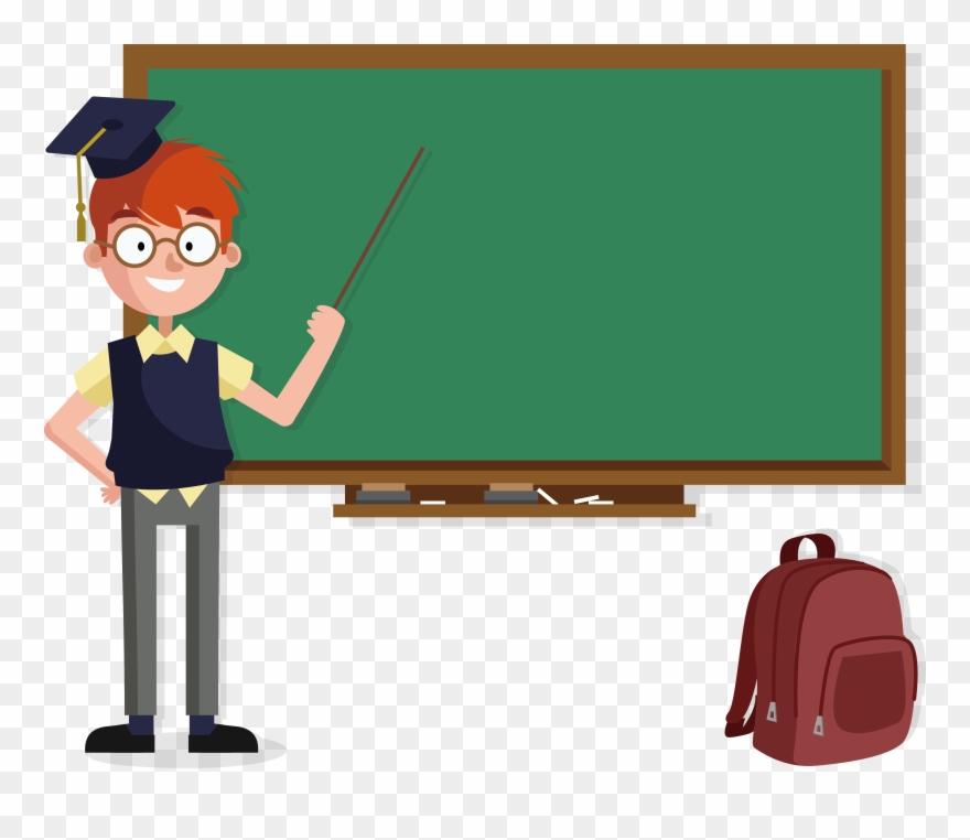 Clipart blackboard school schedule clipart free Transparent Teacher Blackboard - School Teacher Image Cartoon ... clipart free