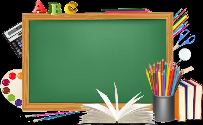 Clipart blackboard school schedule clipart black and white stock Blackboard Clipart Transparent - Transparent Background Schools Png ... clipart black and white stock