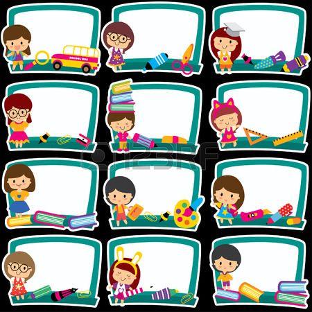Clipart blackboard school schedule svg royalty free download Blackboard Frames Clip Art Set Royalty Free Cliparts, Vectors, And ... svg royalty free download