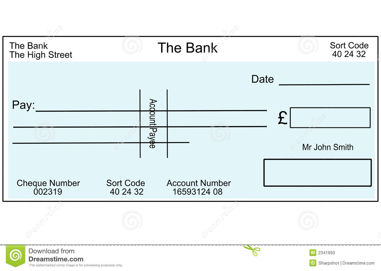 Clipart blank bank check image freeuse Cheque Clipart - Clipart Kid image freeuse
