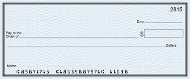 Clipart blank bank check graphic free download Blank Check With Open Space For Your Text Royalty Free Stock Image ... graphic free download