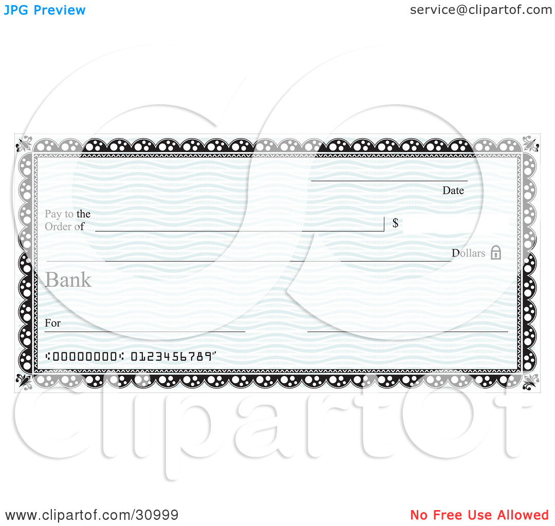 Clipart blank bank check png download Clipart blank bank check - ClipartFest png download