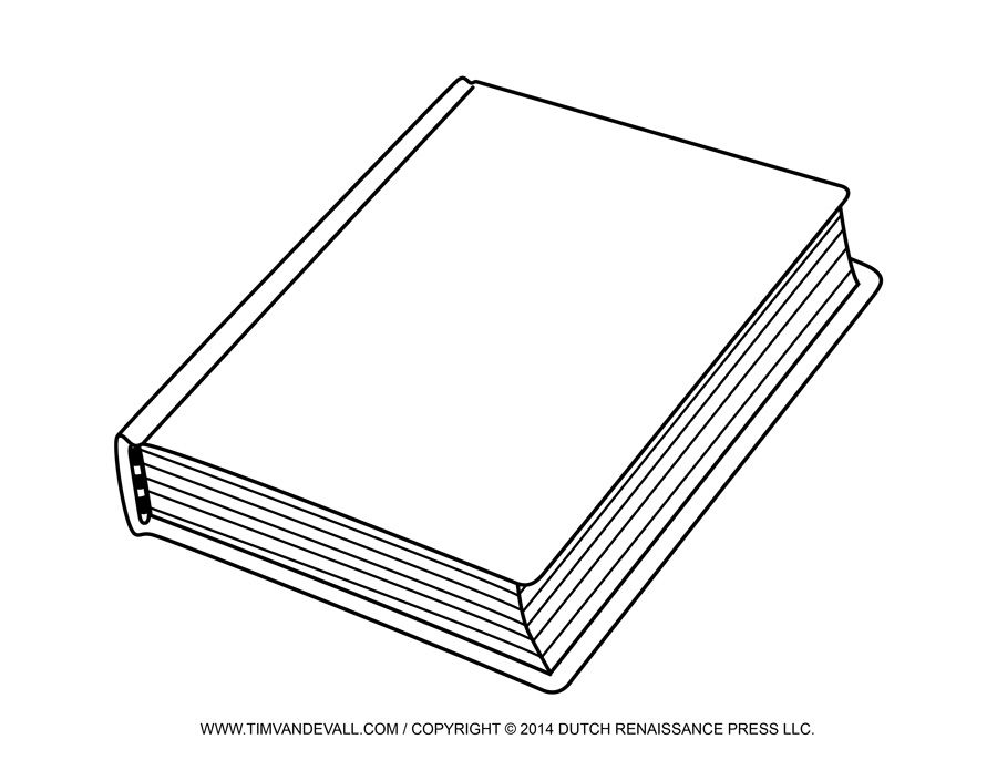Clipart blank book picture library stock Free Blank Book Cover Template Book Report Reading Clip Art | Weekly ... picture library stock