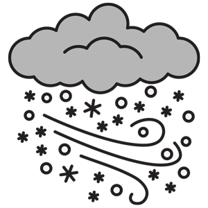 Weather cancellation alert clipart black and wlhite free stock clipart-blizzard - Rocky Mountain Dinosaur Resource Center free stock