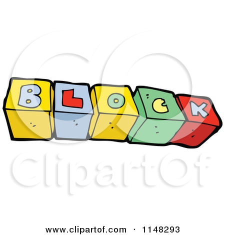 Cartoon of abc alphabet. Clipart block letter
