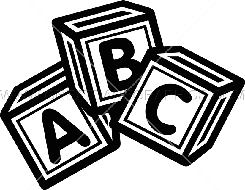 Clipart block letter picture library download Letter Blocks | Production Ready Artwork for T-Shirt Printing picture library download
