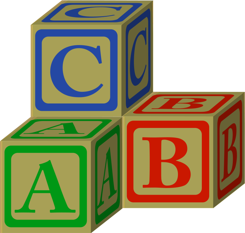 Baby blocks free download. Clipart block letter