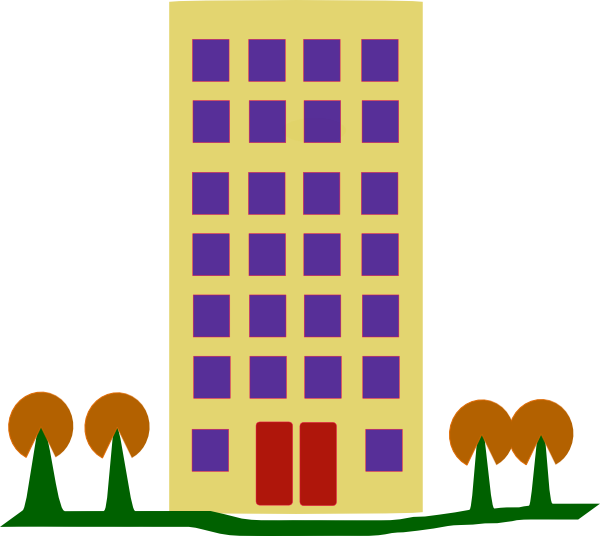 Clipart school building image freeuse download Clip Art Block Of Flats Clipart - Clipart Kid image freeuse download