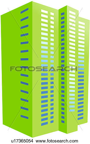 Clipart block of flats clip stock Clipart of modern architecture, apartment house, logo, block of ... clip stock