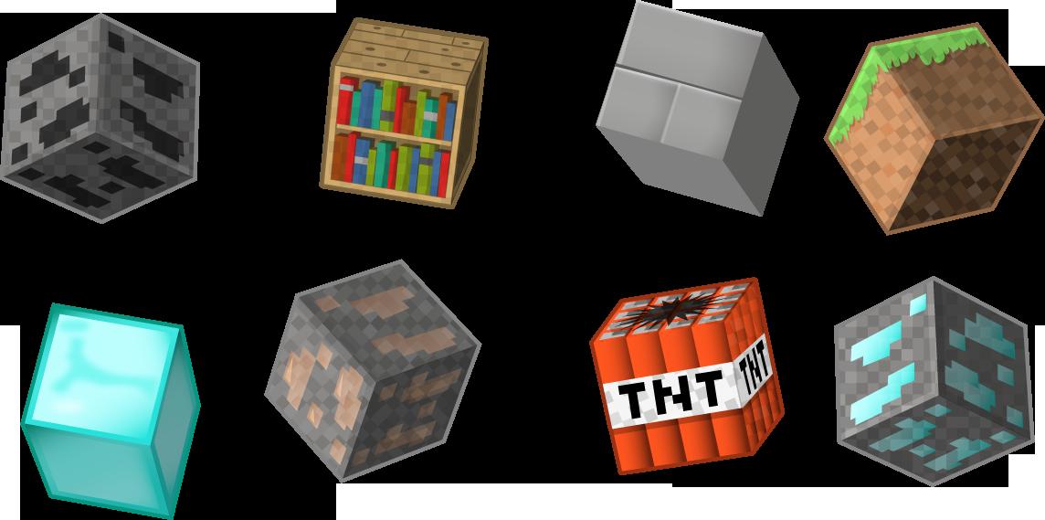 Minecraft block . Clipart blocks
