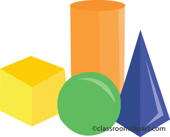 Clipart blocks. Wooden kid toys shapes
