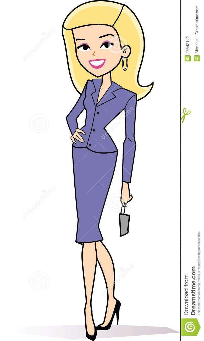 Woman with suitcases caricatures clipart vector black and white stock female blonde business clipart | Stock Photography: Cartoon woman ... vector black and white stock