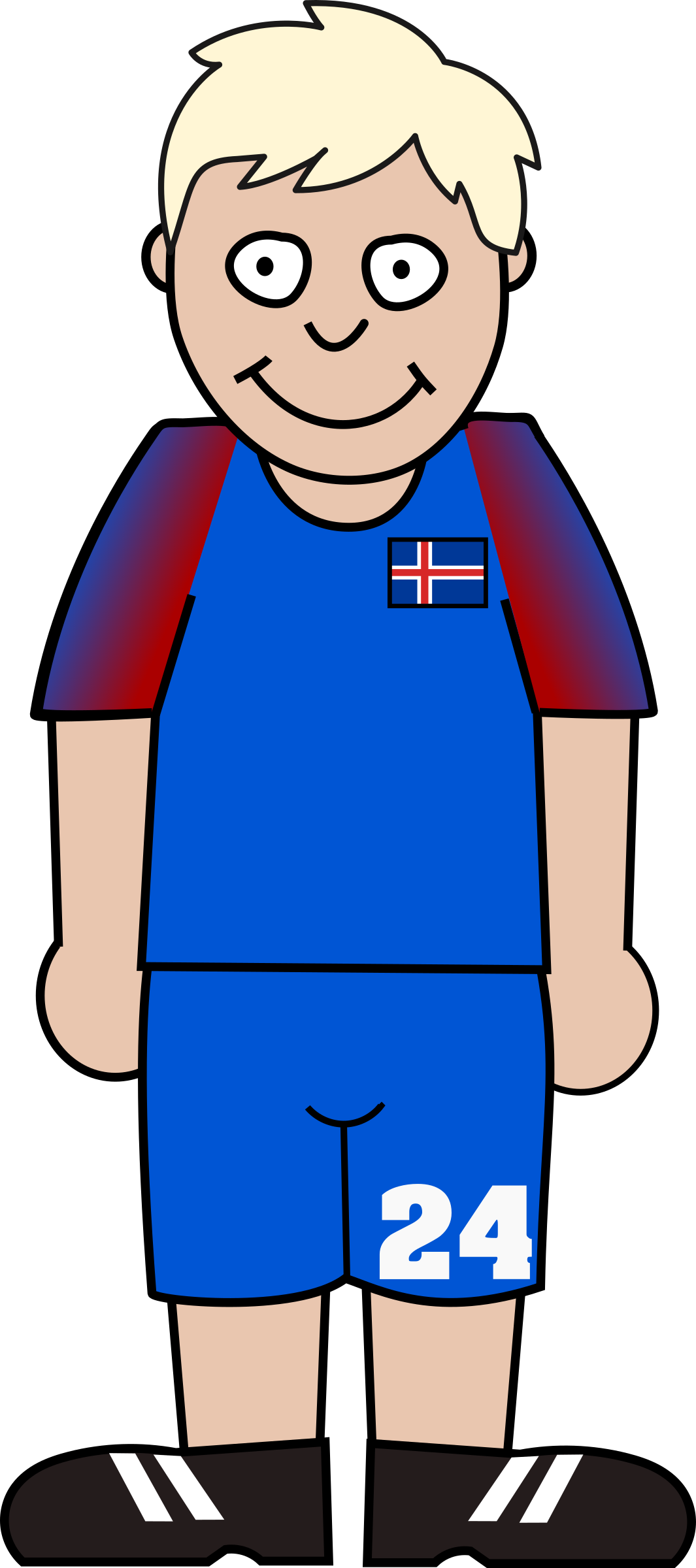 Clipart image football player clip transparent Clipart - Football player iceland clip transparent