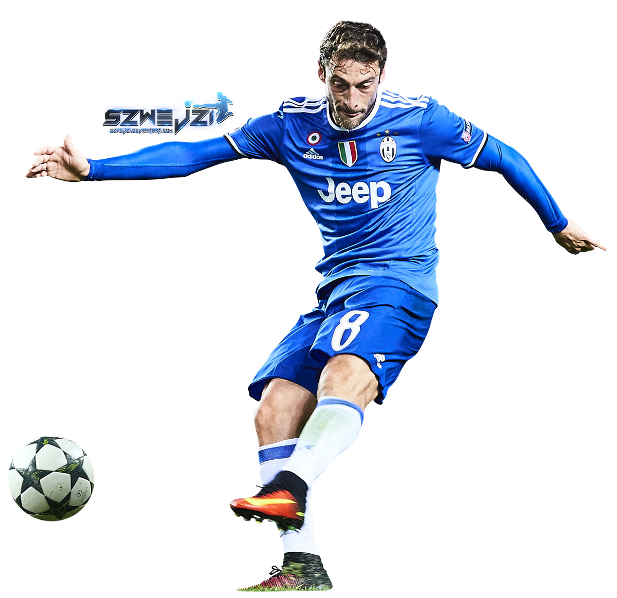Clipart blue football player clipart black and white Claudio Marchisio by szwejzi on DeviantArt clipart black and white
