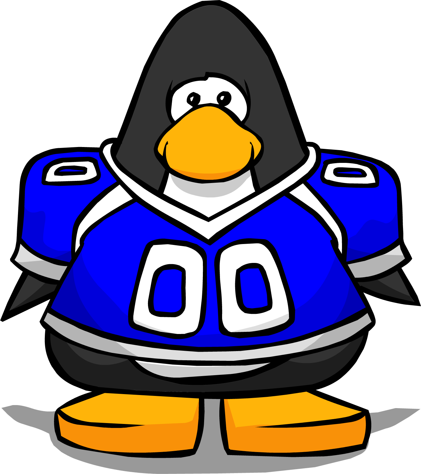 Clipart blue football player clip art black and white download Image - Blue Football Jersey from a Player Card.PNG | Club Penguin ... clip art black and white download