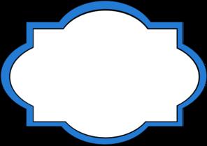 Clipart blue frame png free download Blue Frame Label Clip Art at Clker.com - vector clip art online ... png free download