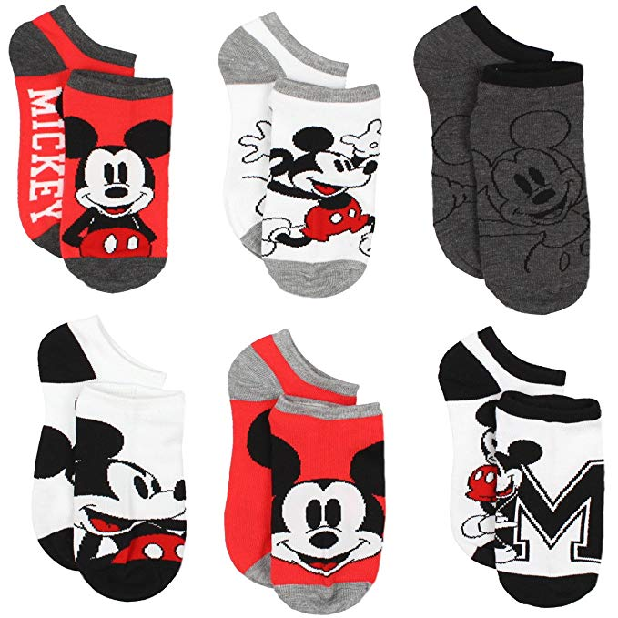 Clipart blue kid socks with minnie mouse clip transparent stock Mickey and Minnie Mouse 6 pack Socks (Toddler/Little Kid/Big Kid/Teen/Adult) clip transparent stock