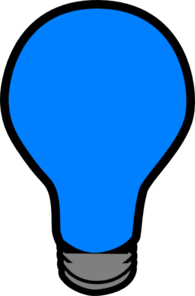 Clipart blue light jpg royalty free stock Blue Lightbulb Clip Art at Clker.com - vector clip art online ... jpg royalty free stock