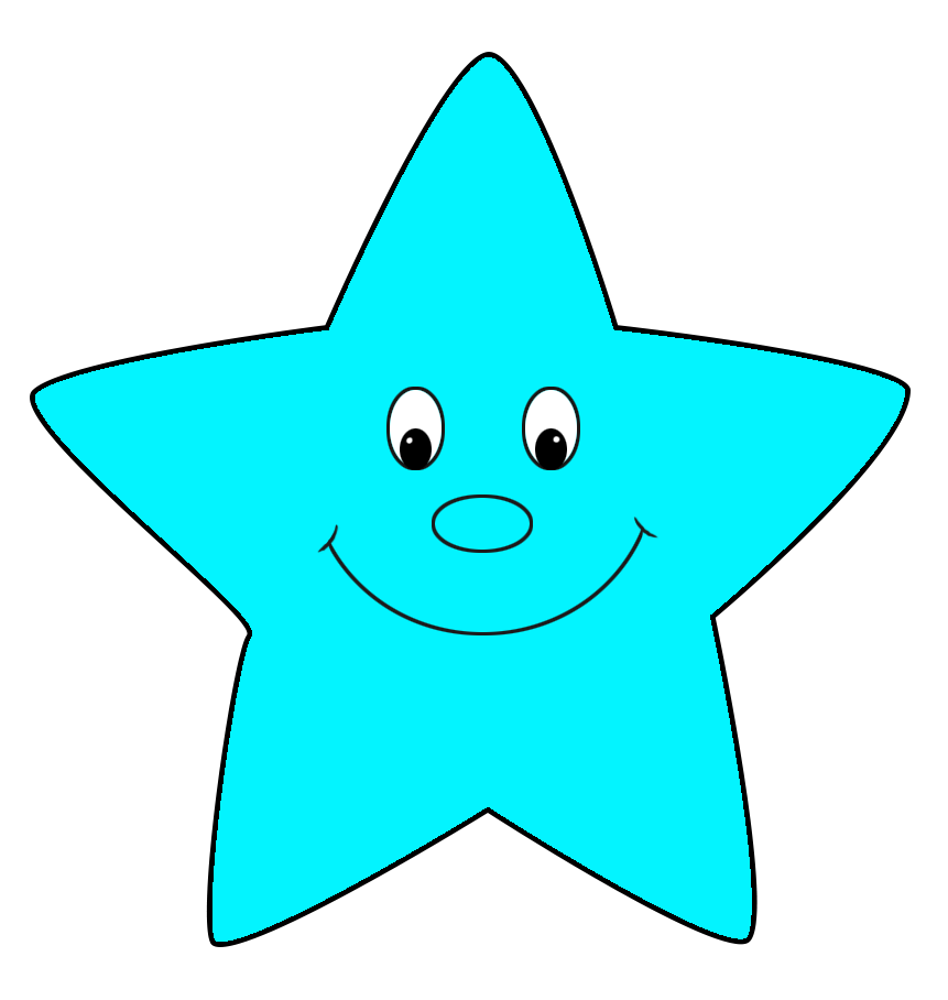 Cool blue star clipart stock Star Clipart stock