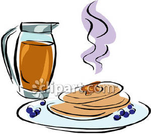 Clipart blueberrypancakes clipart stock Blueberry Pancakes with Syrup Royalty Free Clipart Picture clipart stock