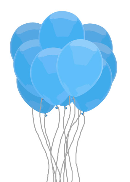 Clipart bluebunch banner black and white Blue Bunch Of Balloons Free Stock Photo - Public Domain Pictures banner black and white