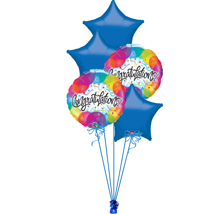 Clipart bluebunch image freeuse stock Congratulations Balloon Blue Bunch image freeuse stock