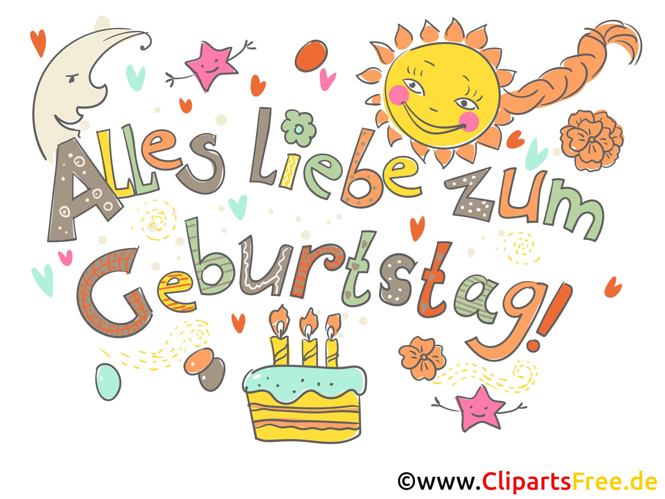 Clipart blumen geburtstag kostenlos graphic free Geburtstag Cliparts kostenlos graphic free
