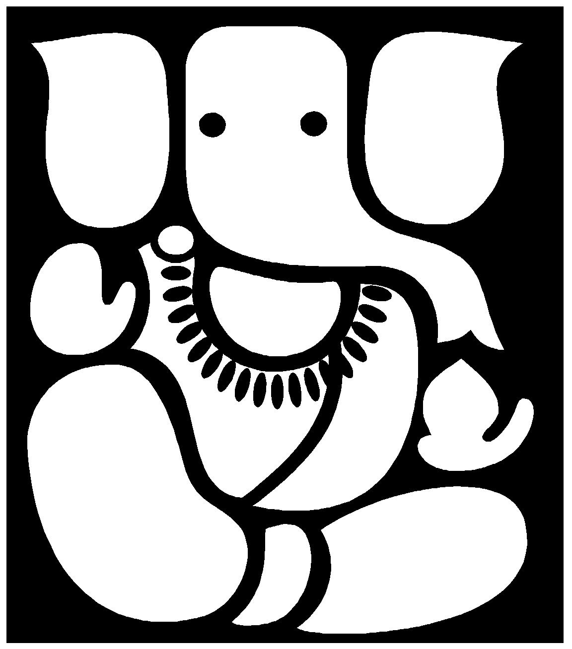 Clipart bmp jpg png free library clip-art-ganesh-free.BMP (1152×1308)   Art   Ganesh, Black, white ... png free library