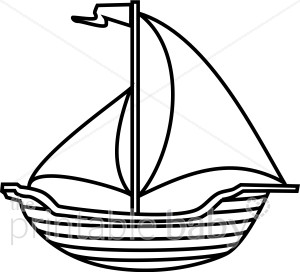 Clipart boat black and white clipart transparent library Black and White Boat Clipart   Beach Baby Clipart clipart transparent library