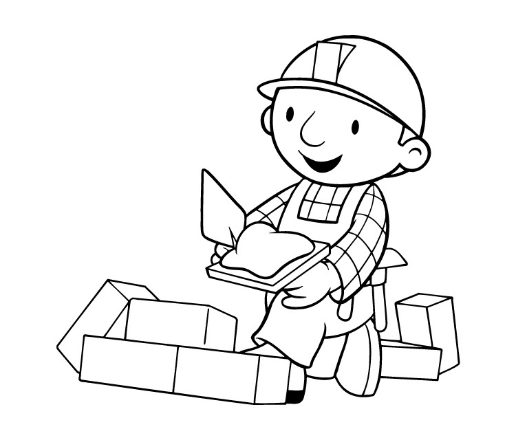Clipart bob der baumeister graphic black and white stock Bob Clipart - Clipart Kid graphic black and white stock