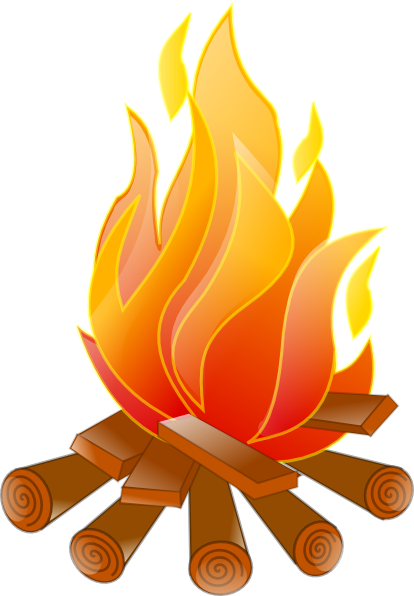 Clipart bonfire png black and white download Campfire Clip Art | Campfire No Shadow clip art - vector clip art ... png black and white download