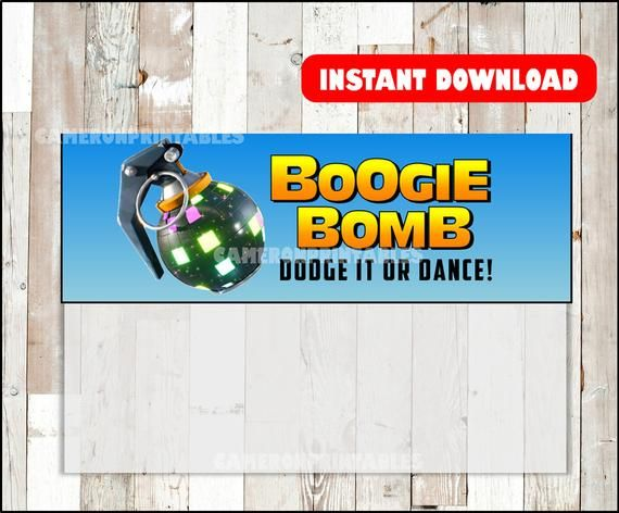 Clipart boogie bomb fortnite graphic free download Fortnite birthday, fortnite favors, BOOGIE BOMB, printable tags, bag ... graphic free download