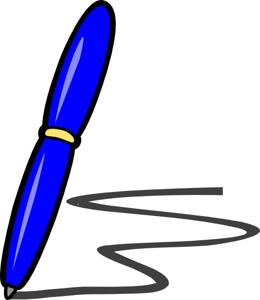 Clipart book blue jpg transparent stock Blue Pen Clip Art at Clker.com - vector clip art online, royalty ... jpg transparent stock