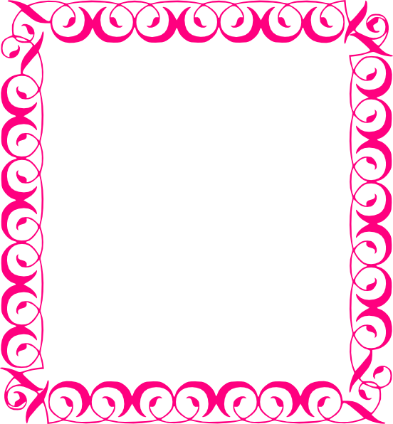 Free clipart border thanksgiving clip transparent stock pink floral borders | Stylish,pink,border clip art - vector clip art ... clip transparent stock