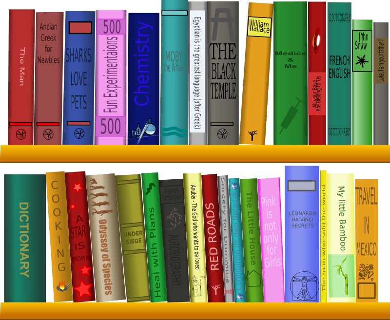 Clipart book shelf clipart free download Clipart - Library - Bibliothèque clipart free download