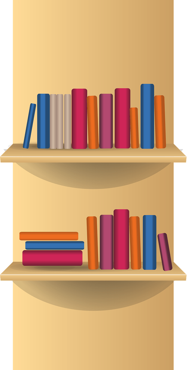 Clipart book shelf clip art 19 Bookshelf clipart HUGE FREEBIE! Download for PowerPoint ... clip art