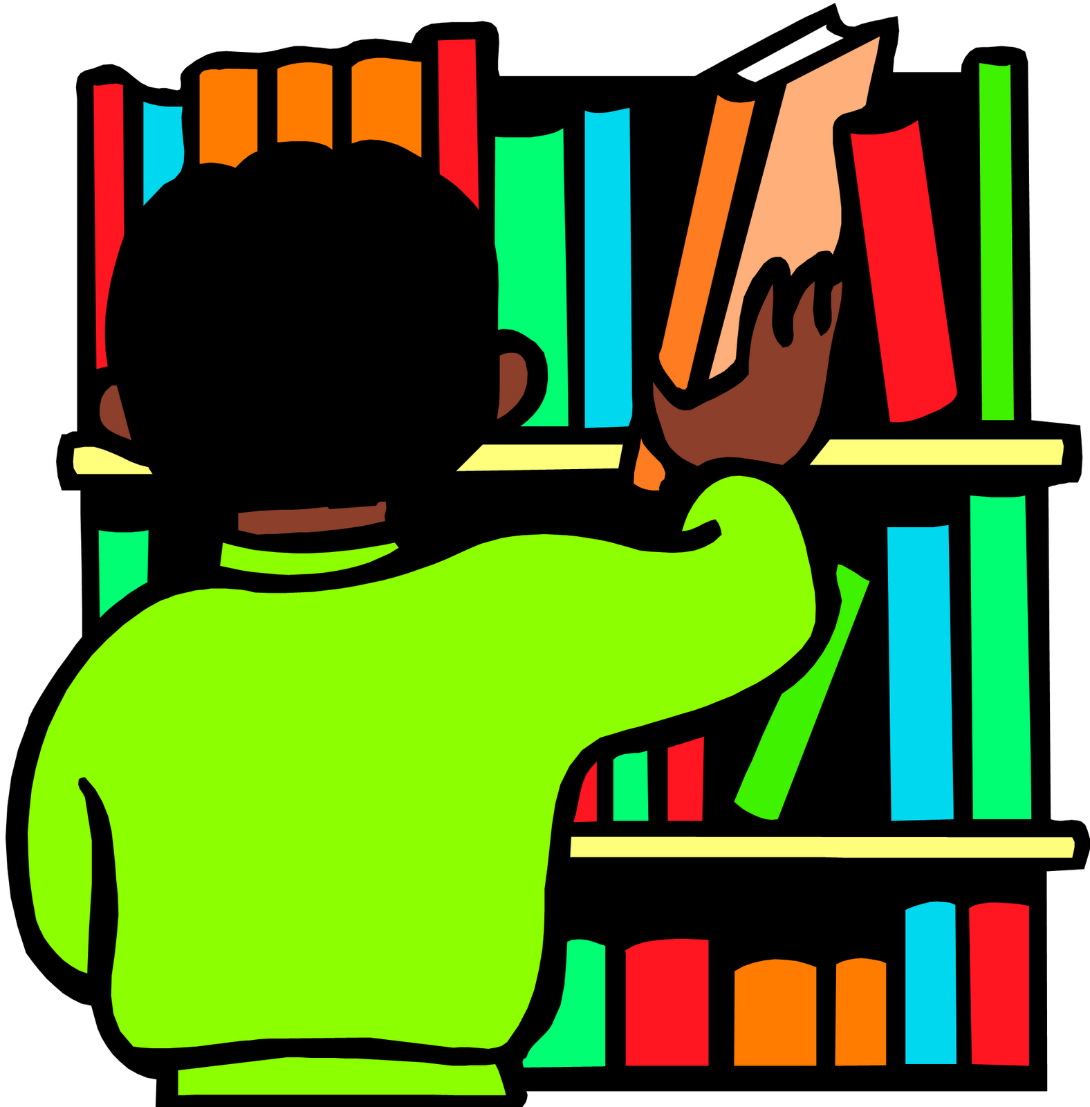 Clipart book shelf clip art free library Dewey Decimal Classification Library classification Librarian School ... clip art free library