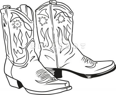 Cowgirl boots clipart black and white clipart royalty free Country Cowboy Boots Clip Art | Black And White Cowboy... | Stuff to ... clipart royalty free
