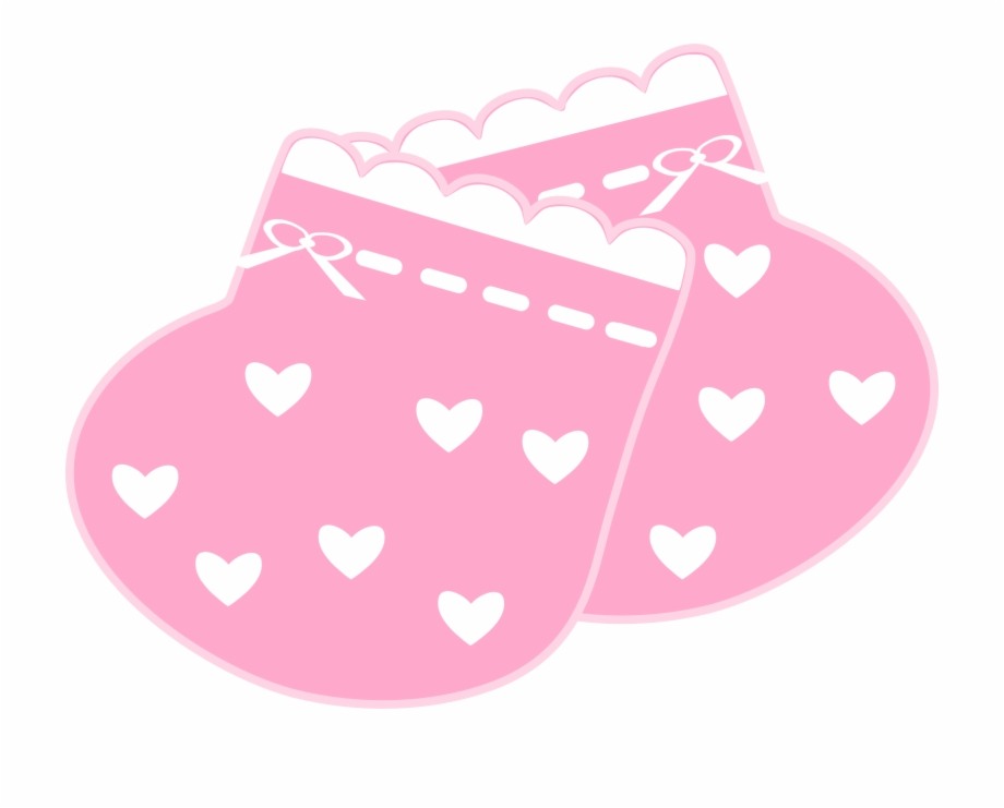 Clipart booties image black and white Baby Girl Clipart Scrapbook - Pink Baby Booties Clipart Png ... image black and white